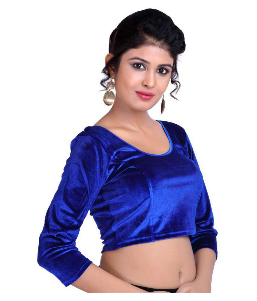 YMS Blue Velvet Readymade without Pad Blouse