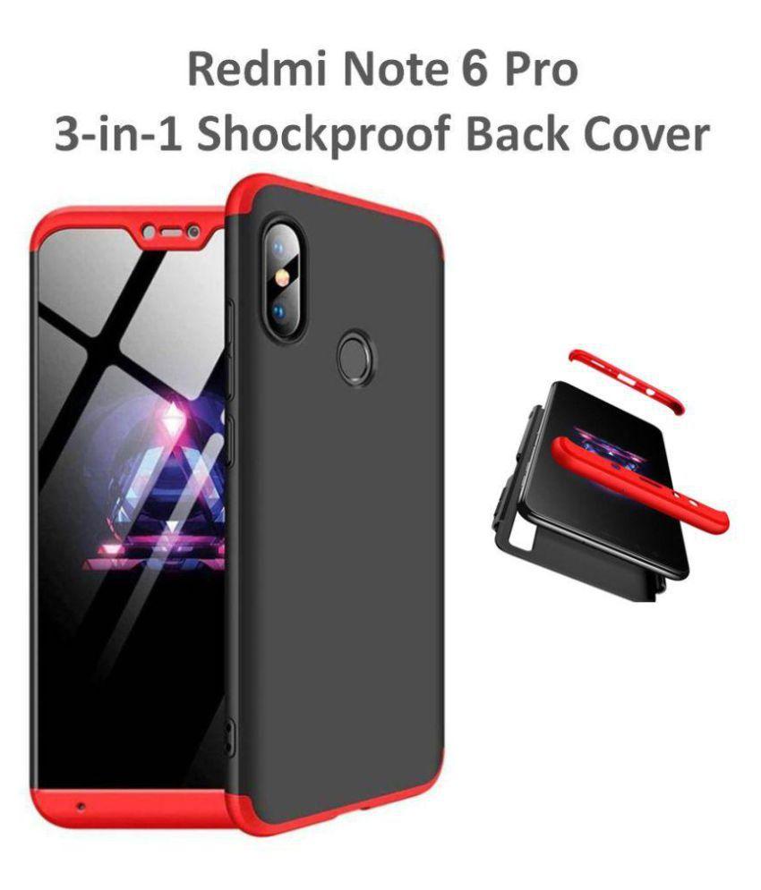 Xiaomi Redmi Note 6 Pro Shock Proof Case shopyholik - Black 3-in-1 Back  Cover