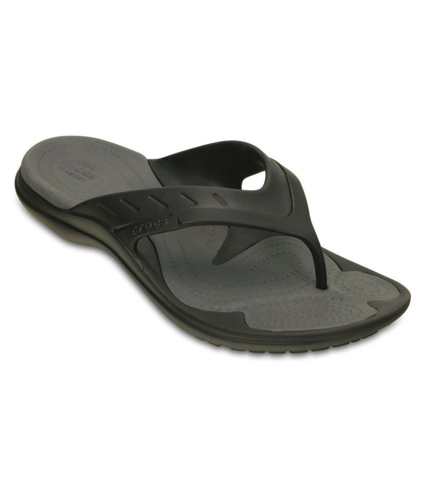 Crocs Relaxed Fit Black Thong Flip Flop