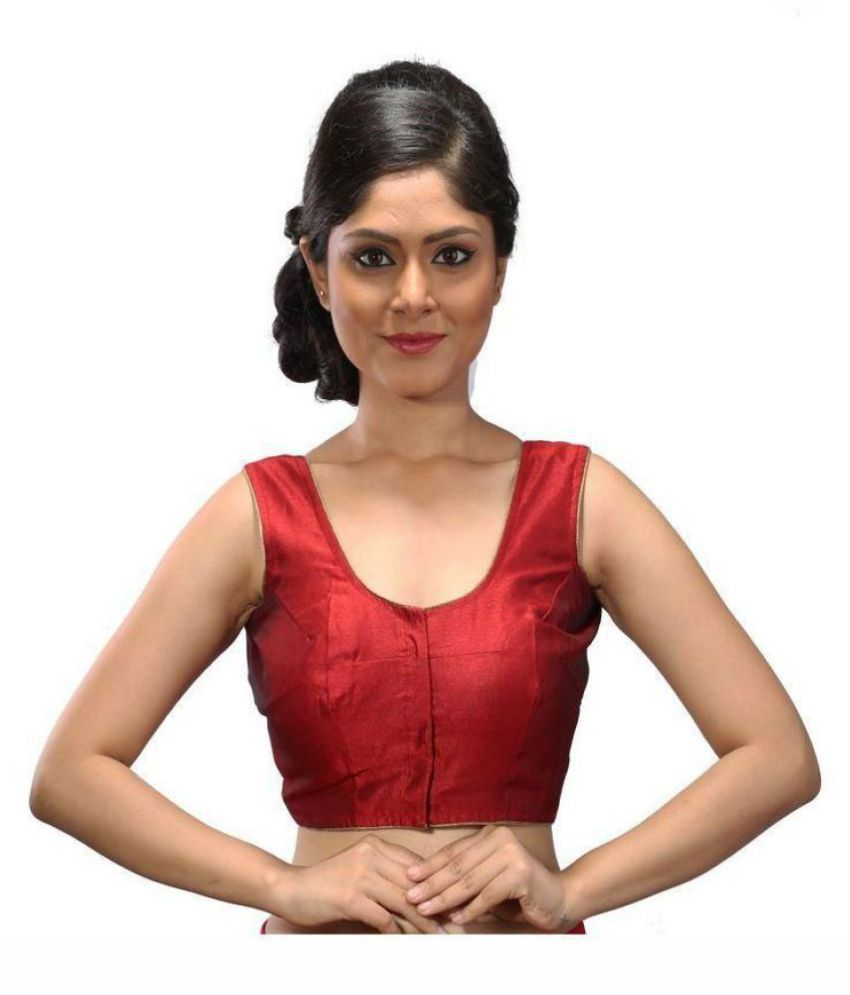 Intrigue Red Silk Readymade without Pad Blouse