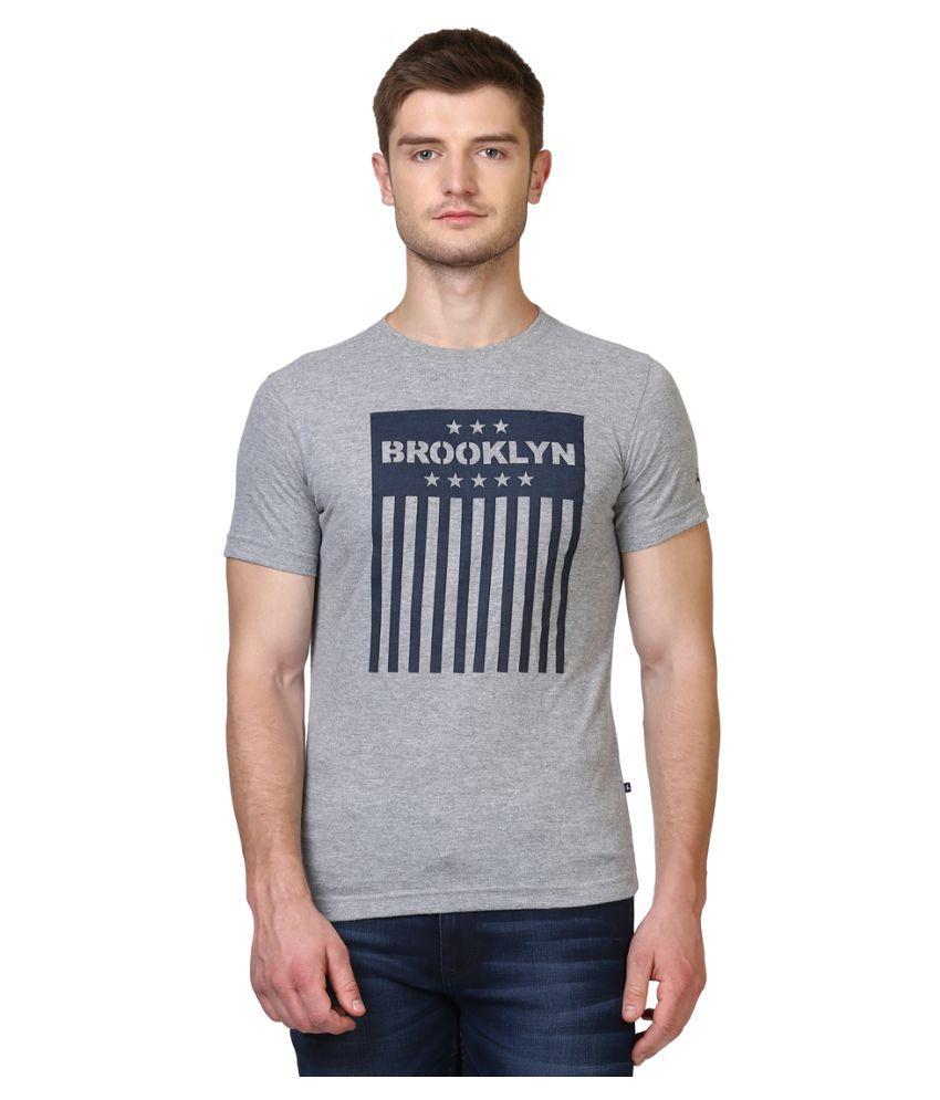Parx Grey Half Sleeve T-Shirt