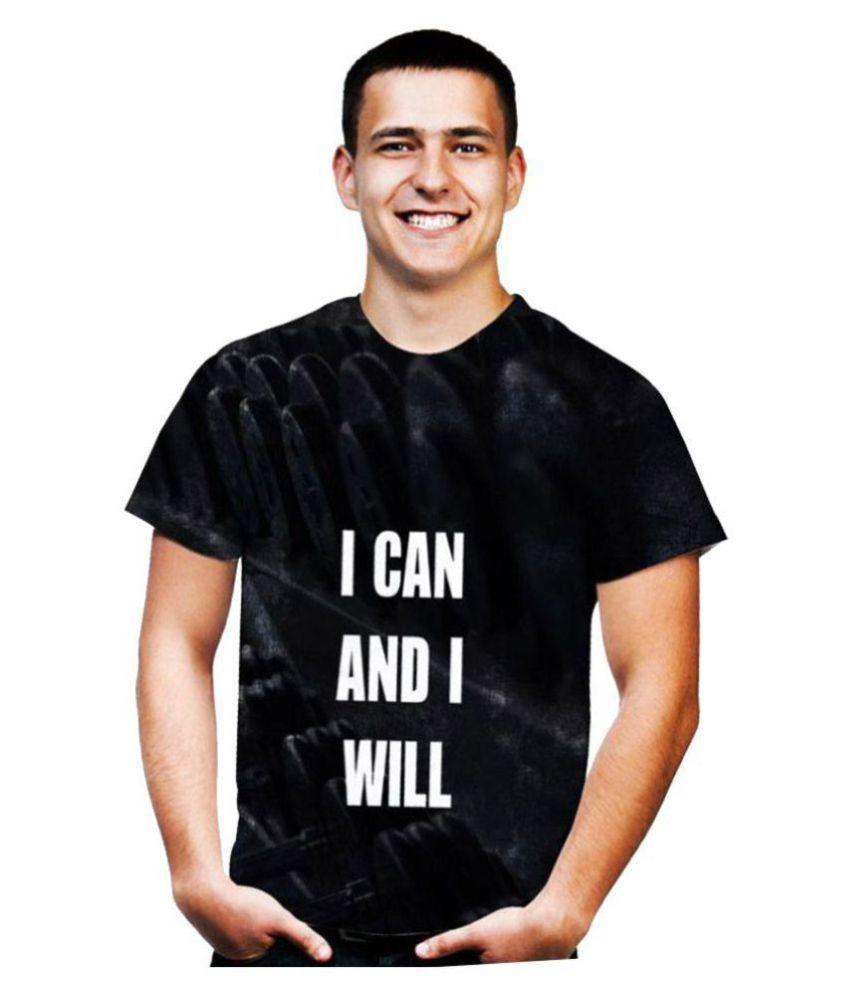 Raves Black Half Sleeve T-Shirt