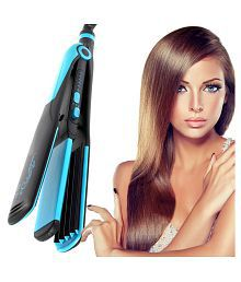 Jm Temperature Control Travel Professional Hair Straighteners Flat Iron 45W Hair Straightener ( Blue & Black )