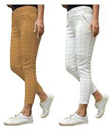 84f9eaa27b6e80 Cotton Lycra Pants & Capris for Women: Buy Cotton Lycra Pants ...