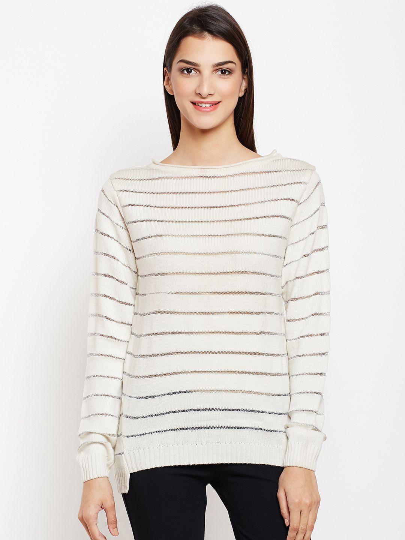 Crimsoune Club Acrylic White Pullovers
