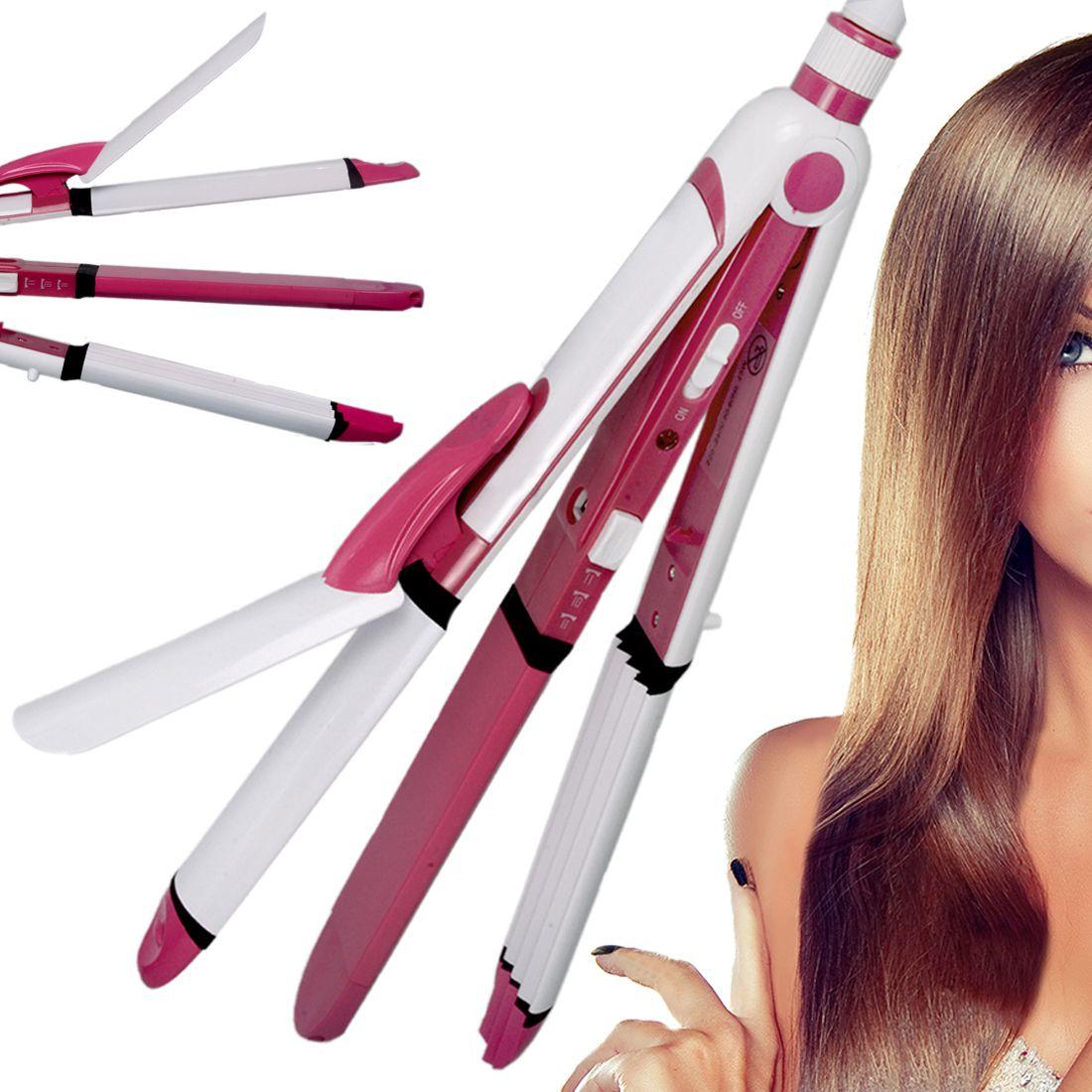 SJ Professional Travel Hair Straighteners Flat Iron 45W Hair Straightener ( White & Pink )