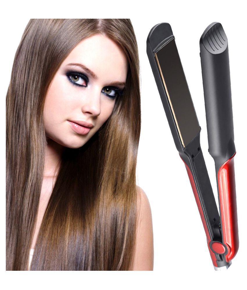 SJ Temperature Control Professional Travel Hair Straighteners Flat Iron 45W Hair Straightener ( Red )