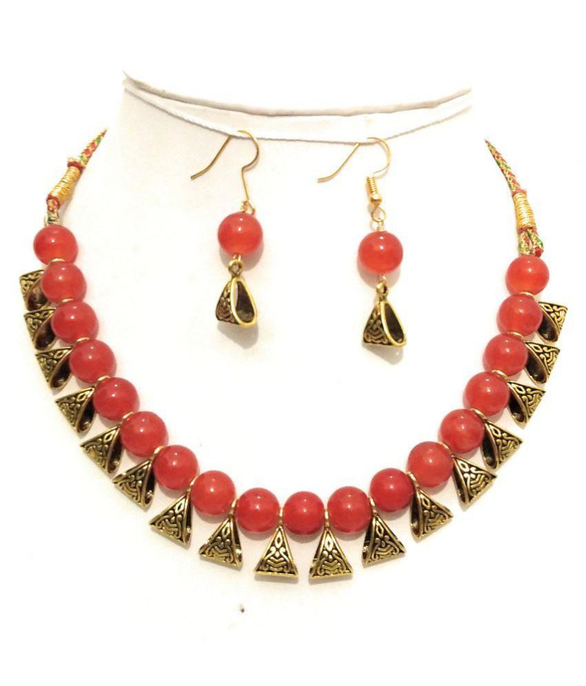 athizay Alloy Red Contemporary Contemporary/Fashion None Necklace