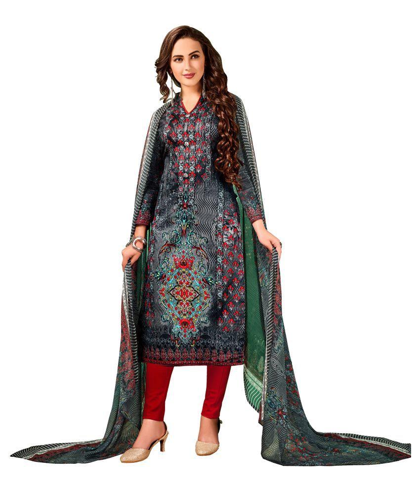 NITYAA Multicoloured Cotton Dress Material