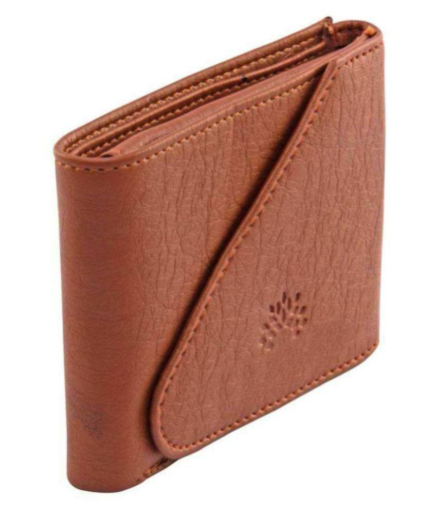 WOODLAND BROWN LEATHER Leather Tan Casual Regular Wallet
