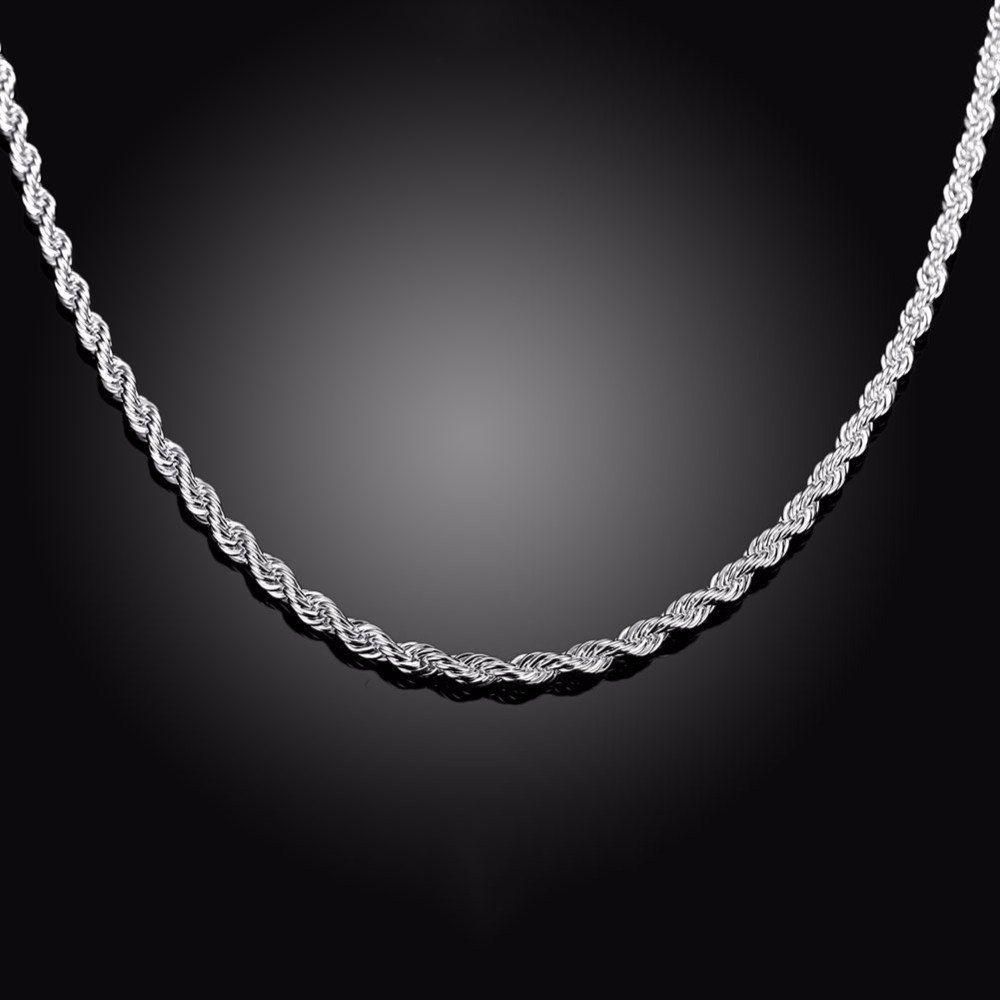 f0dcbf1f8505c Twisted Silver Chain for Men  Buy Online at Low Price in India - Snapdeal