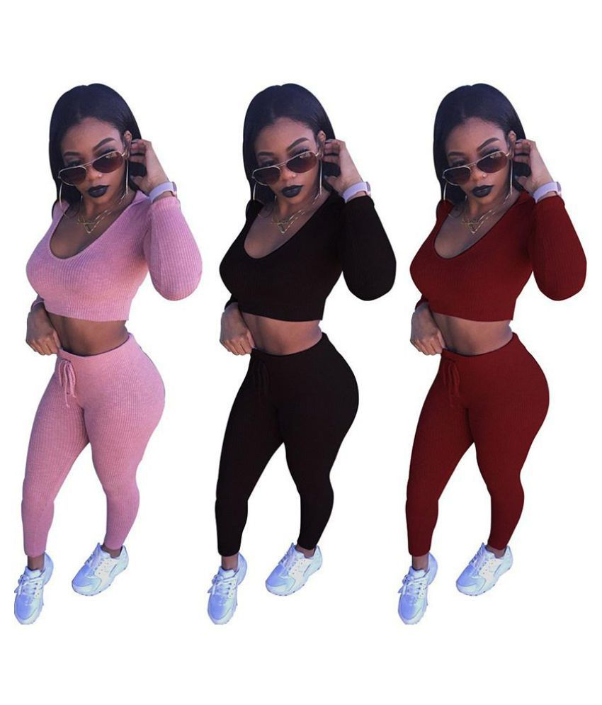 3b07ffd15e 2017 Hot Selling Women's Fashion Crop Tops and Leggings Two-piece ...