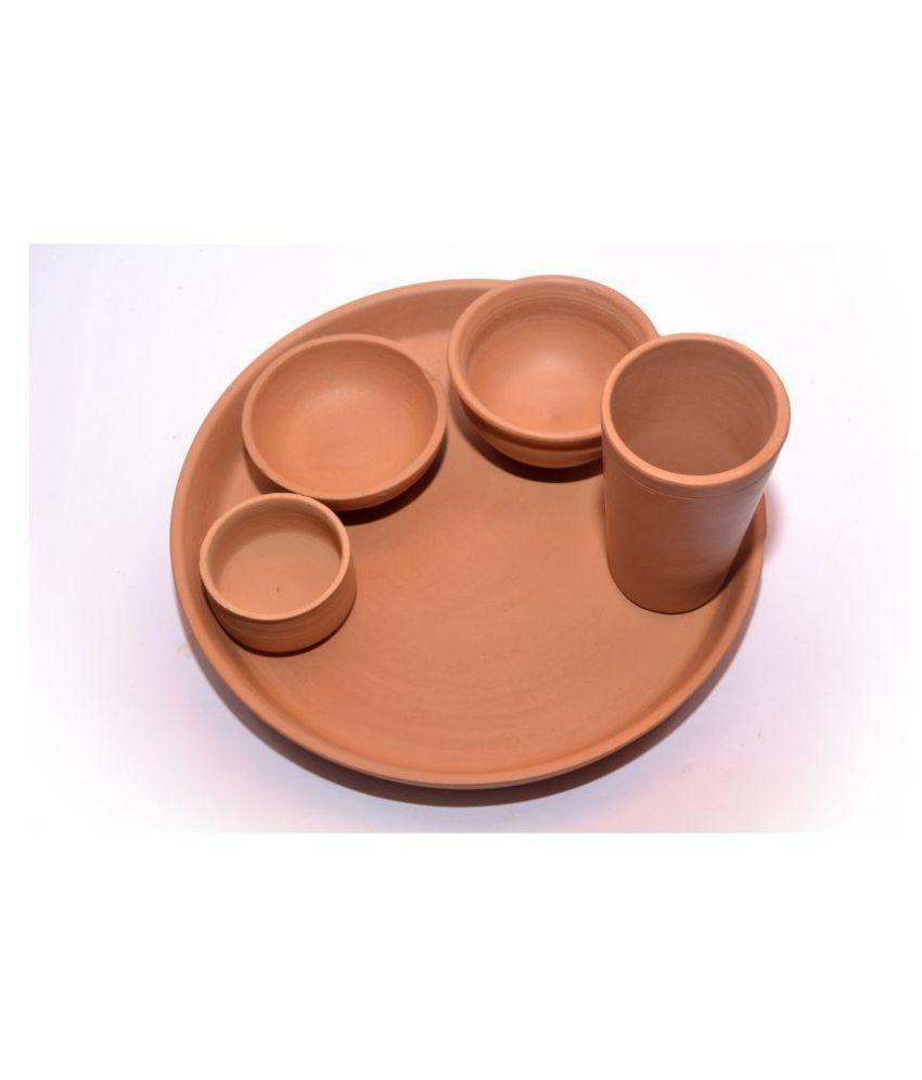 Chhabi Enterprises Clay Dinner Set of 5 Pieces