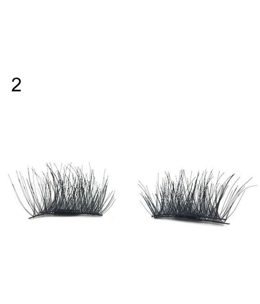46d8bff49f1 1 Pair Magnetic False Eyelashes Lengthen Natural Cross Thick Eyelash  Extension ...