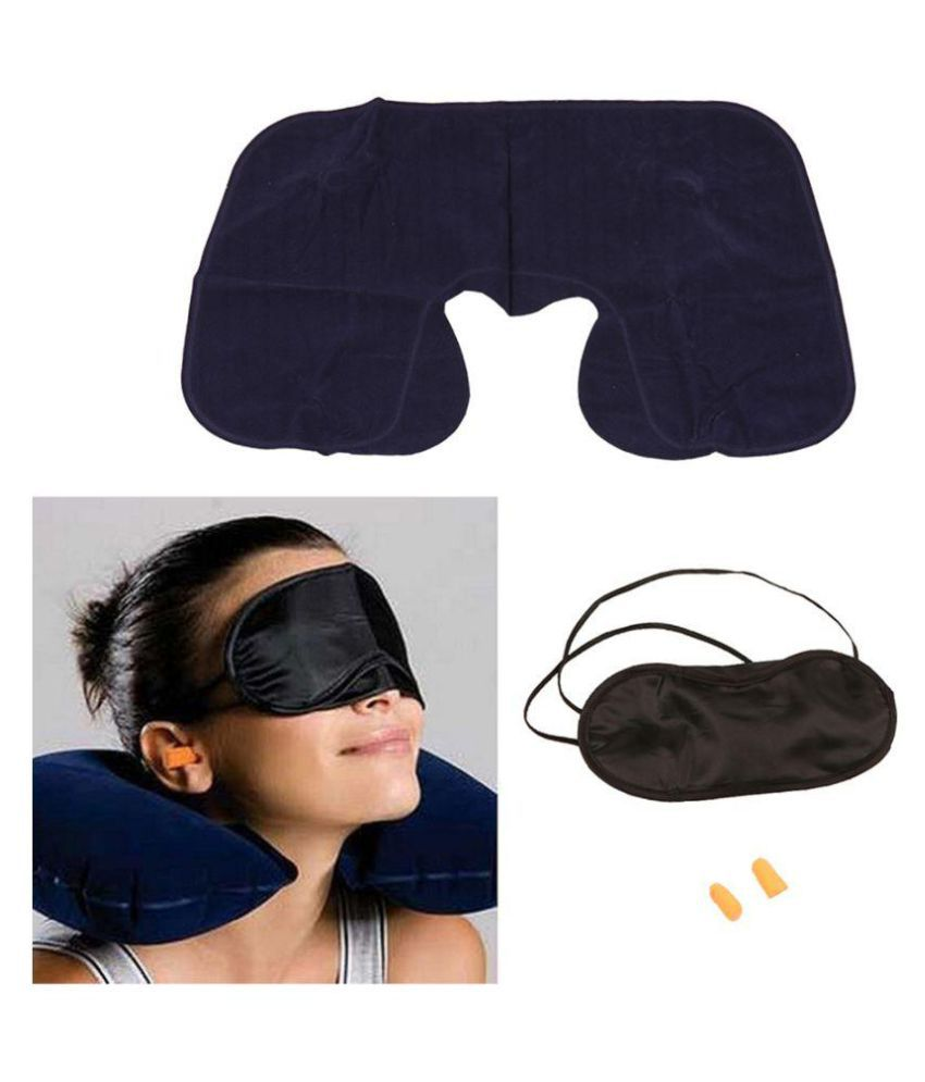 PE 3 in 1 Travel Selection Comfort Neck PIllow, Travel Eye Shade Mask, Ear Plugs