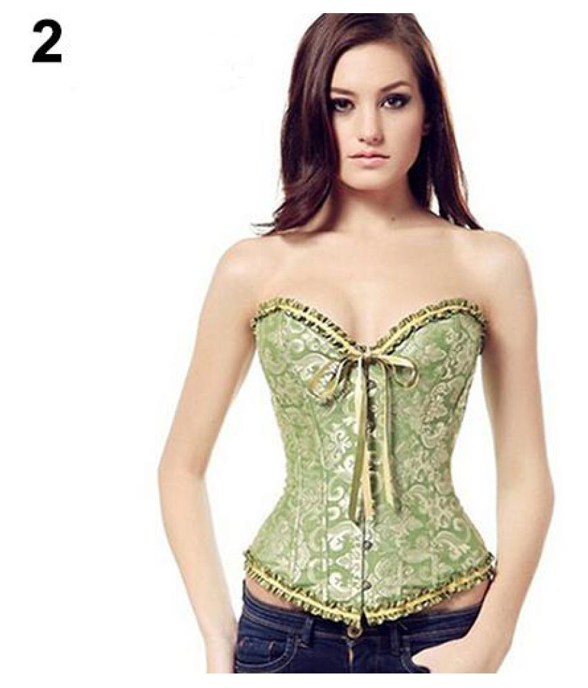 068840ddce3 ... Set Women s Sexy Gothic Lace-up Corset Corselet Bustier + G-String Body  Shaper ...