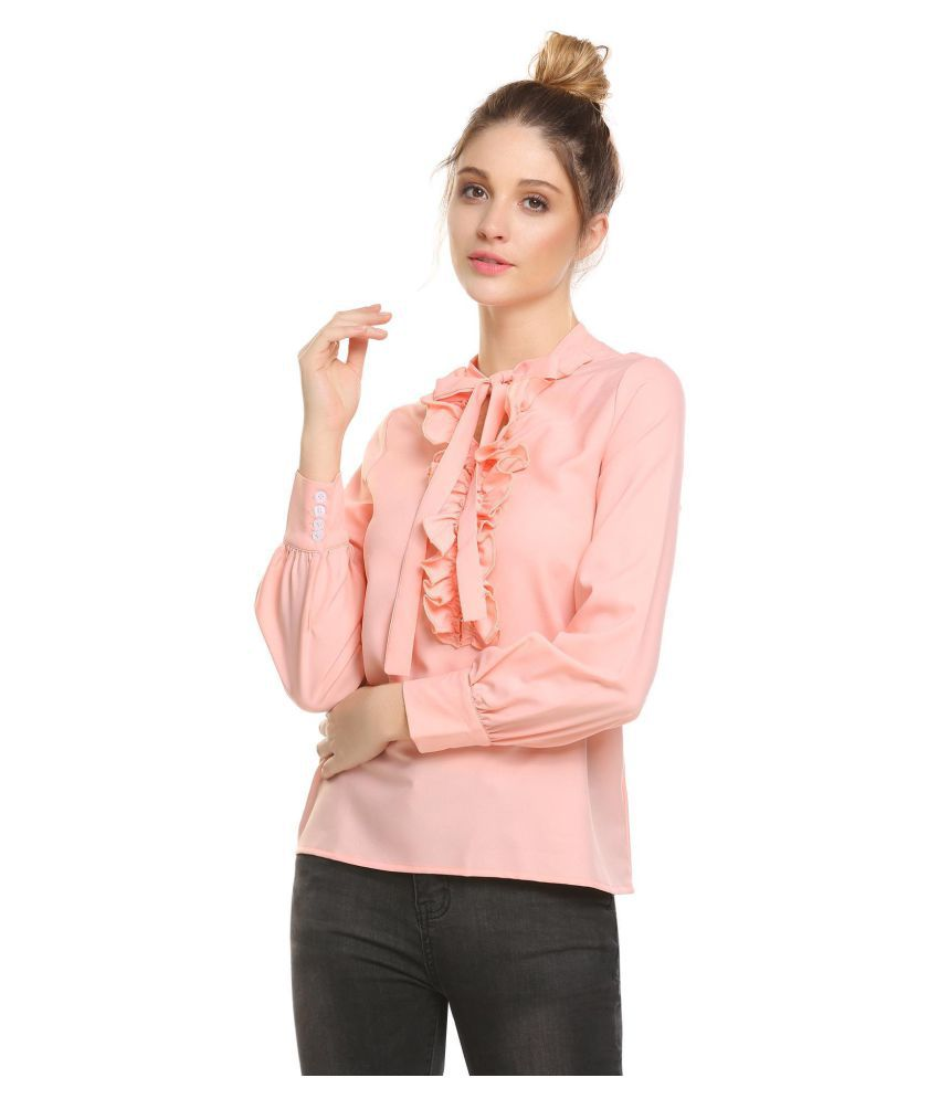 5c4c04a6904 Buy Women Casual Lace Lantern Sleeve Ruffle Shirt Tops Online at Best Prices  in India - Snapdeal