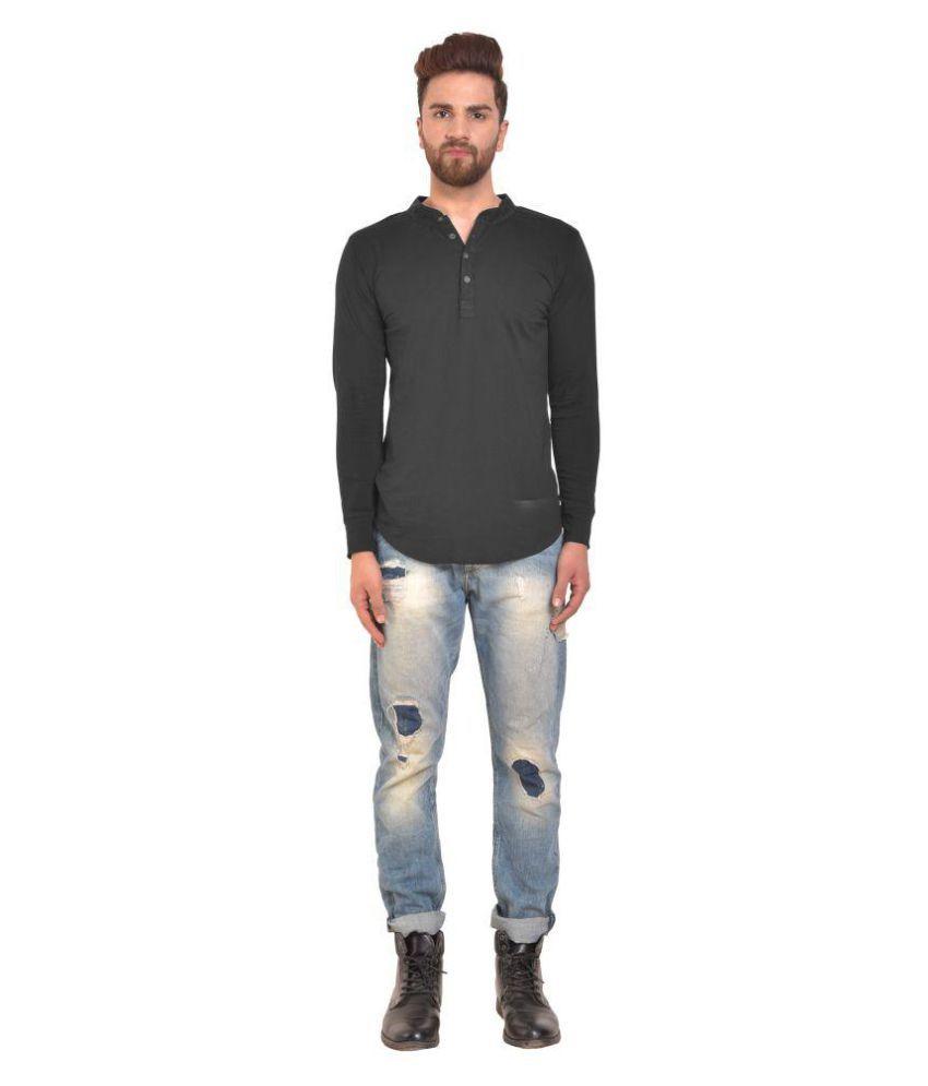 PAUSE Black Full Sleeve T-Shirt Pack of 1