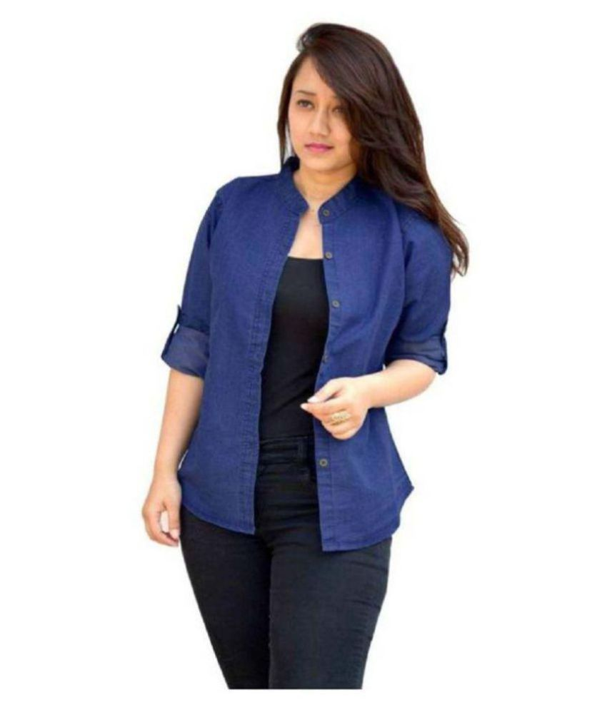 Rafflesia Tolpis Blue Denim Shirt