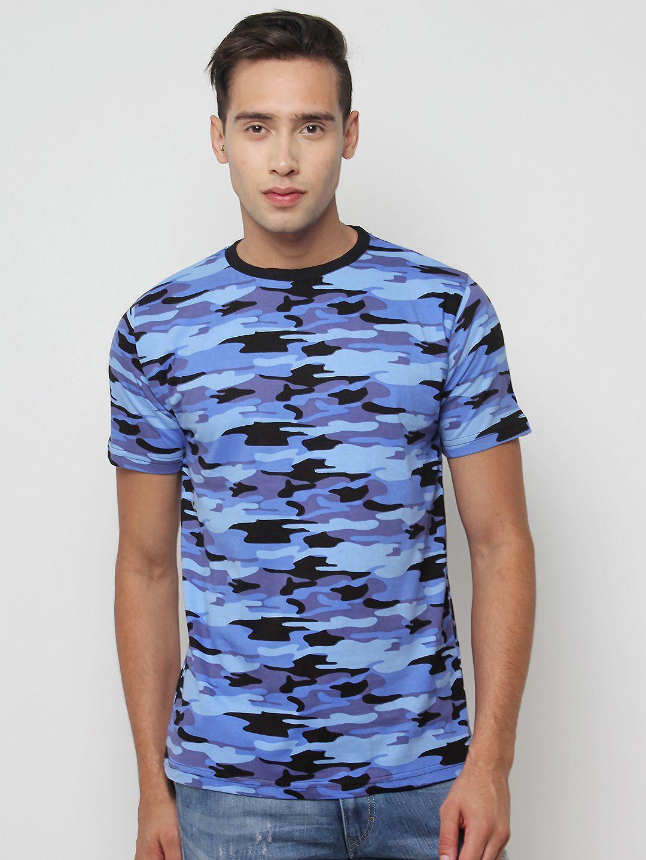 Sayitloud Blue Half Sleeve T-Shirt