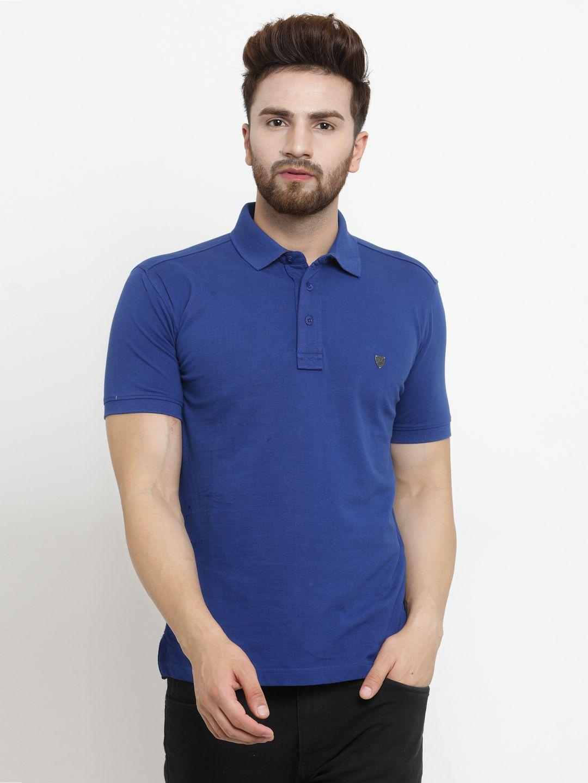 John Players Blue Half Sleeve T-Shirt