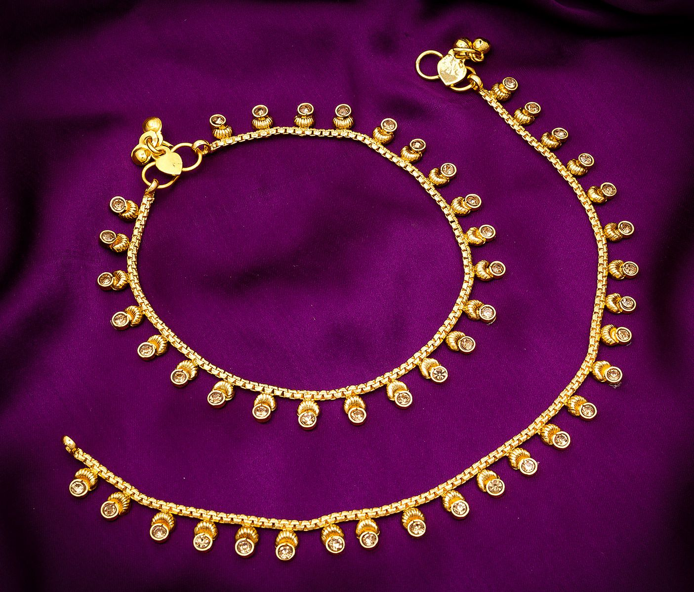 Aadita Gold Plated Payal Anklets for Women and Girls