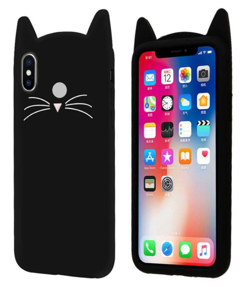 best service eb021 b7532 Xiaomi Redmi Note 5 Pro Plain Cases Kosher Traders - Black 3D Cute Cat  Kitty Back Cover
