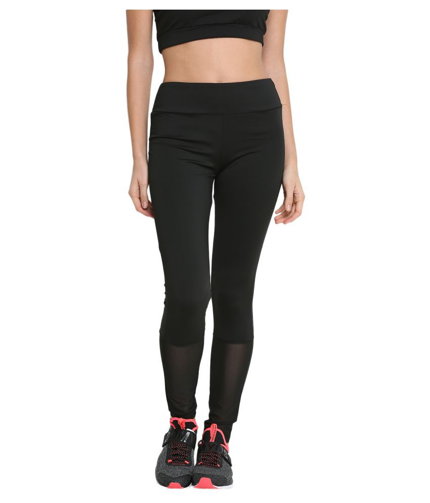 CHKOKKO Mesh Yoga Gym and Active Sports Fitness Leggings Tights High Waist Sports Yoga Pants for Women