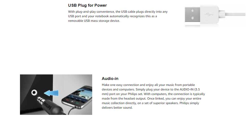 Philips SPA-30 2 0 Wooden Sound Box Speakers Black For Laptop,Desktop, TV&AV