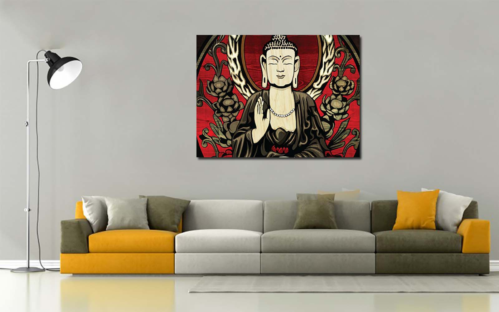 100yellow Buddha 15 X 22 Inch Canvas Art Prints Without Frame Buy