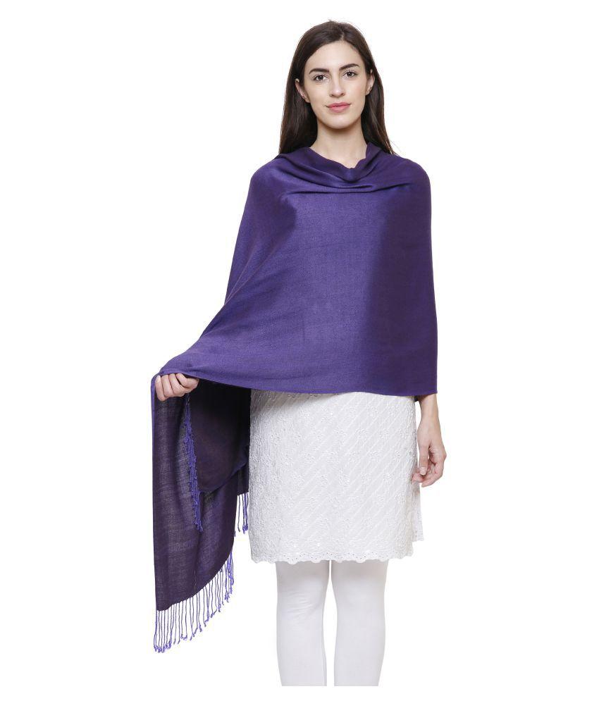 Anekaant Purple Woven Shawl