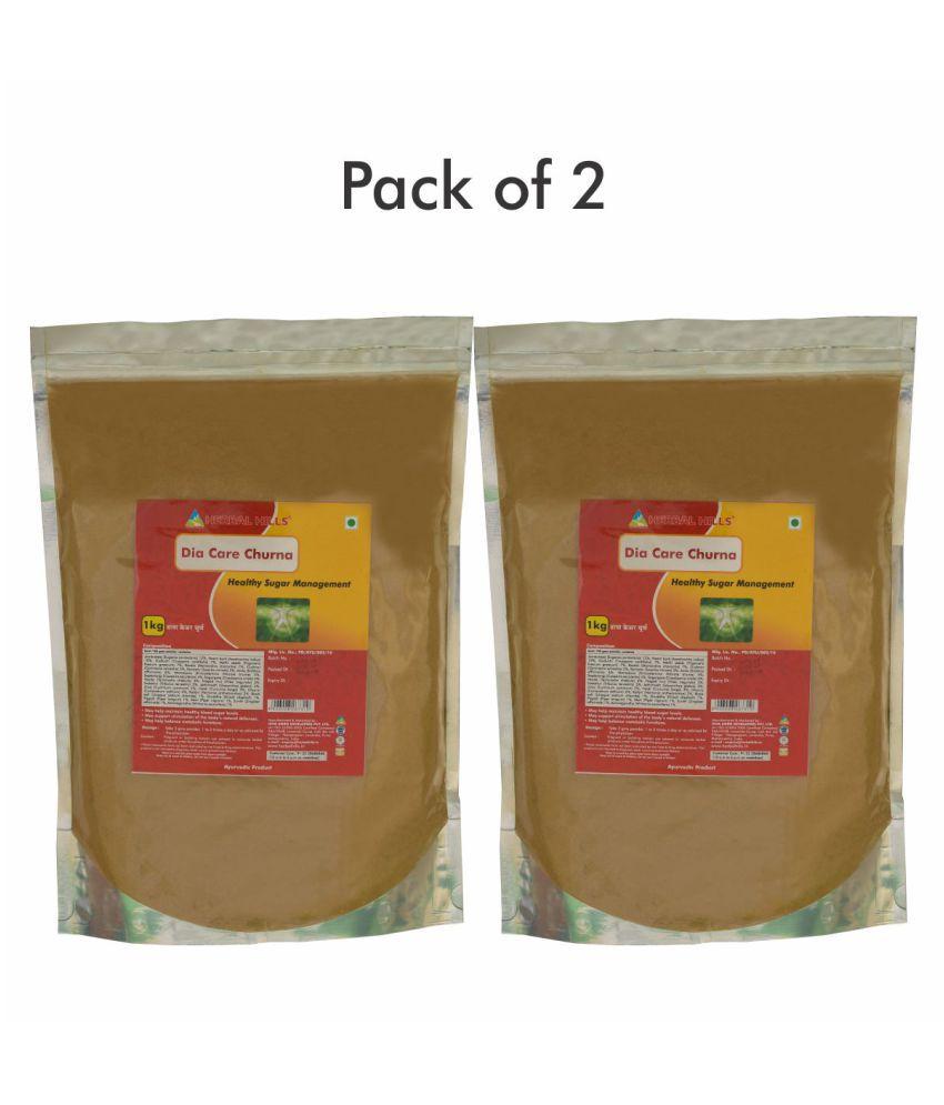 Herbal Hills Sugar Management or Dia Care Churna Powder 1 kg Pack Of 2