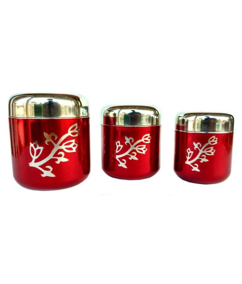 Rastogi Handicrafts Steel Food Container Set of 3