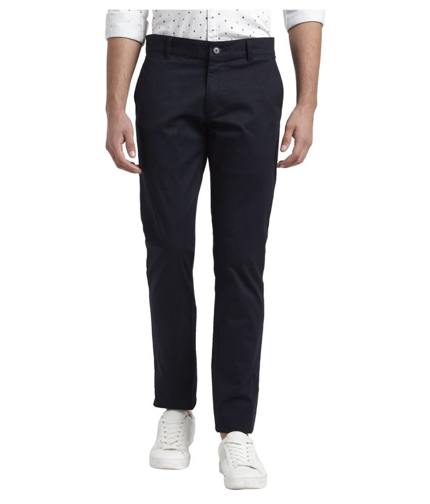 Colorplus Blue Tapered -Fit Flat Trousers