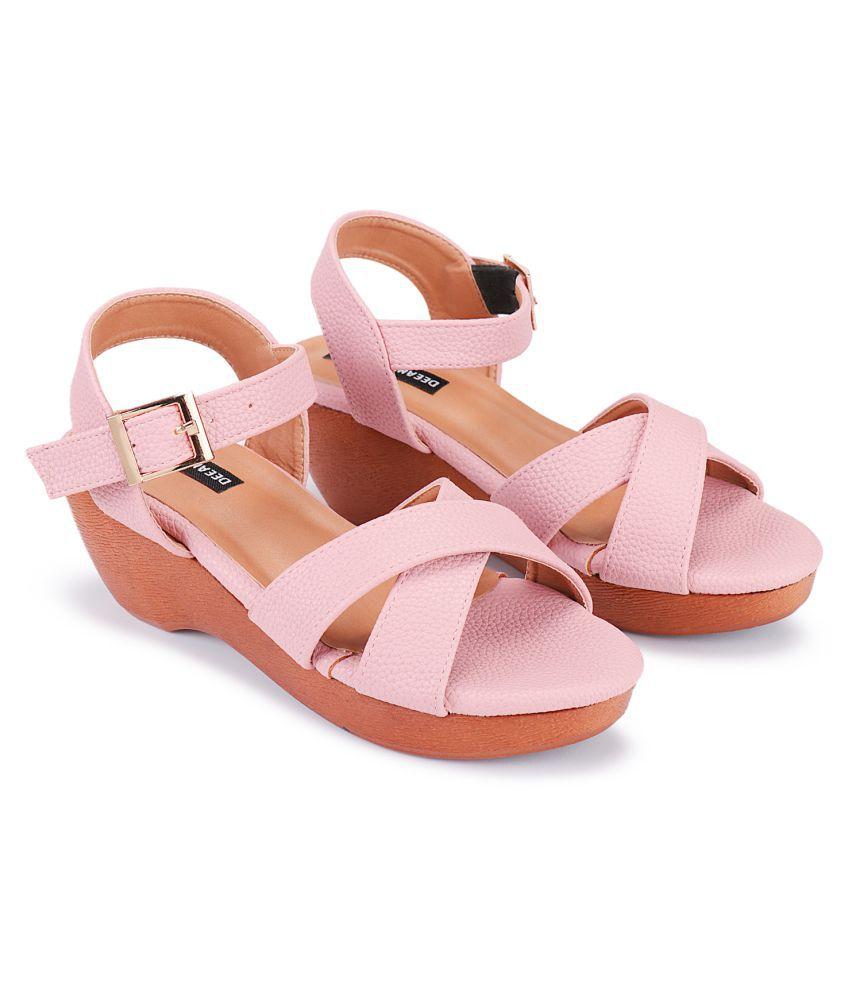 Deeanne London Pink Wedges Heels