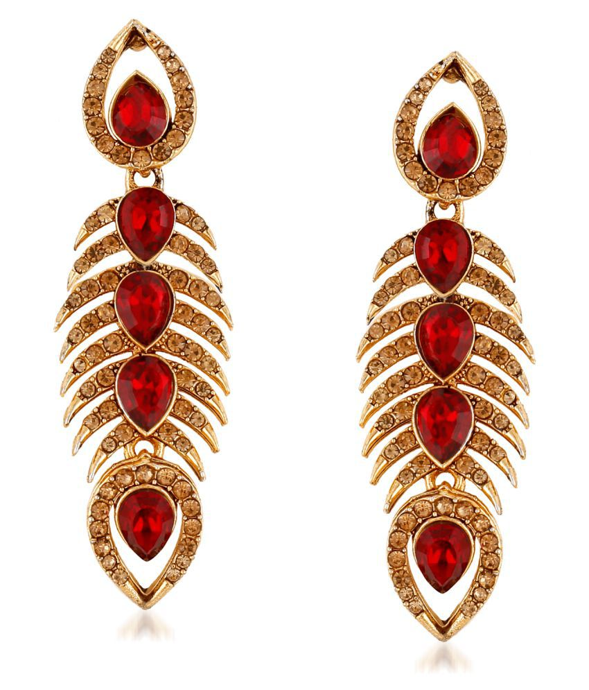 VK Jewels Attractive Design Gold Plated Alloy Earrings for Women
