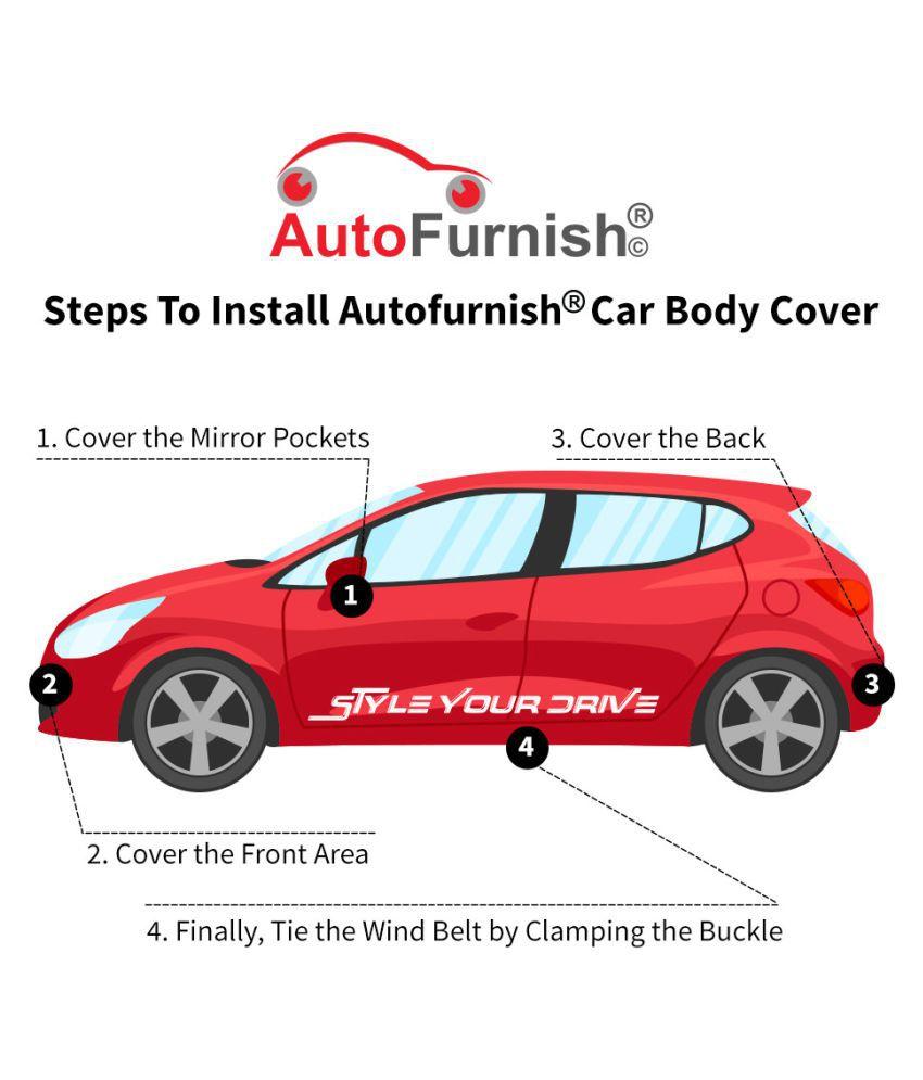 Autofurnish Premium Grey Car Body Cover For Honda Wrv Grey Buy