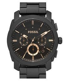 Fossil black Fossil FS4682 Stainless Steel Chronograph Men's Watch