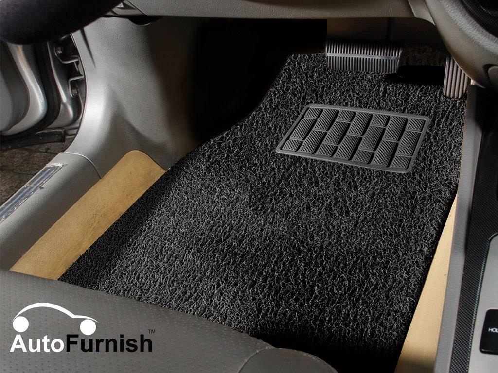 Autofurnish Anti Skid Curly Car Foot Mats (Black) for Maruti Swift (Universal Size - Custom Fit )