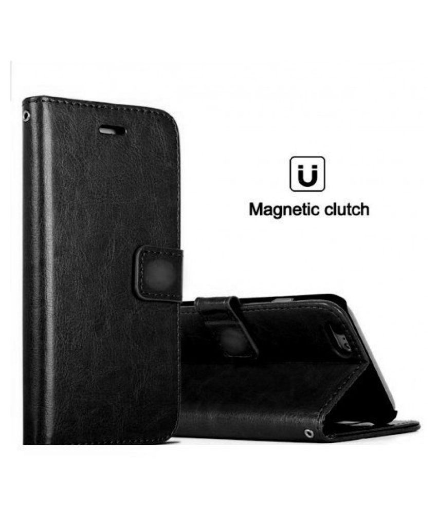 sports shoes b105b 79335 Huawei Honor 8 Lite Flip Cover by Designer Hub - Black