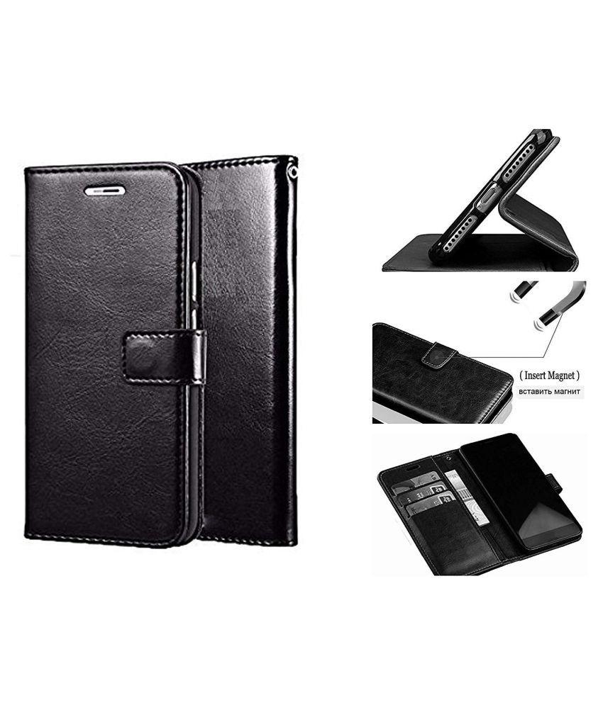 Lenovo A536 Flip Cover by Designer Hub - Black