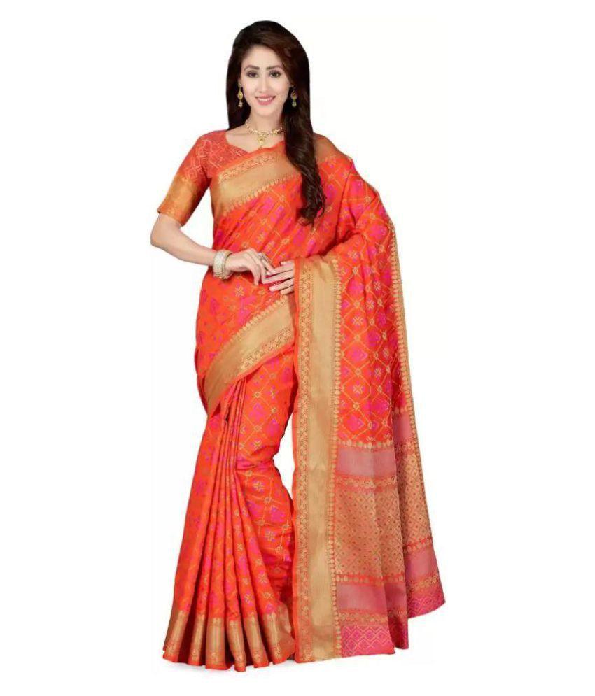 Shivam Red Banarasi Silk Saree