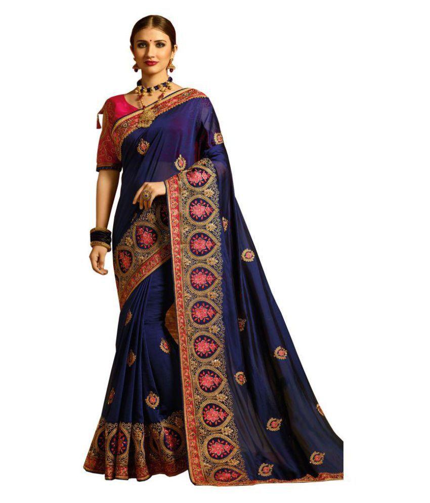 abd9db85b SareeShop Designer SareeS Pink and Purple Silk Saree - Buy SareeShop ...