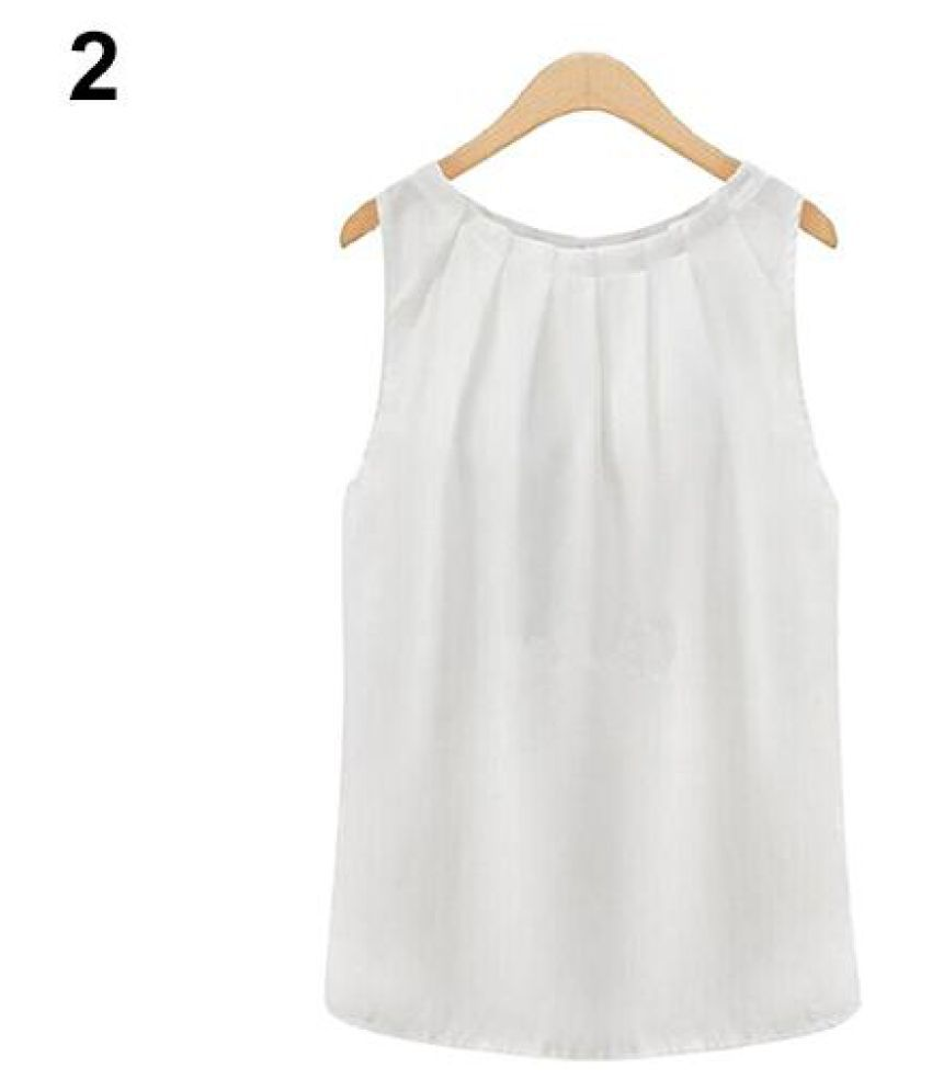 d691fe335cfac Buy Women Fashion Sexy Sleeveless Summer Chiffon Vest Casual Tank Tops  Shirt Blouse Online at Best Prices in India - Snapdeal