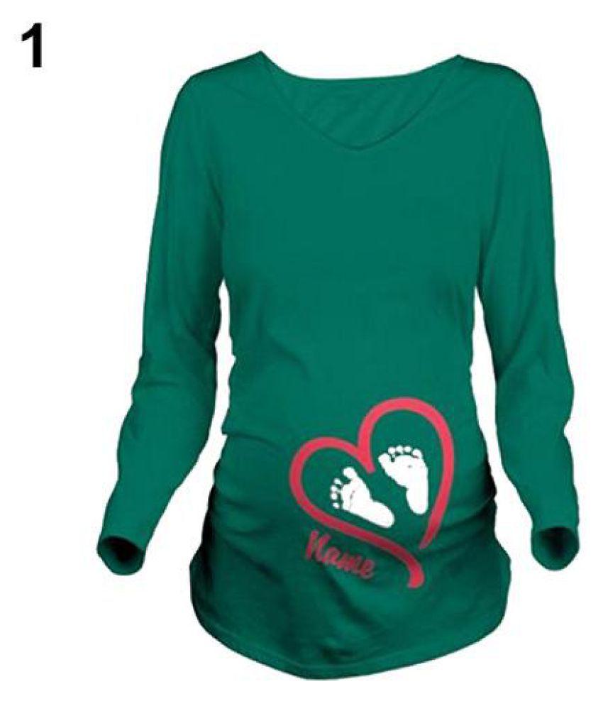 b741509ba7a40 ... Women Spring Maternity Long Sleeve Name Print T Shirt Plus Size Pregnant  Blouse ...