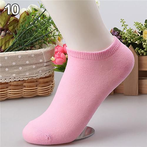 10 Pairs Candy Color Ankle Socks Short Low Cut Crew Casual Sport Boat Socks