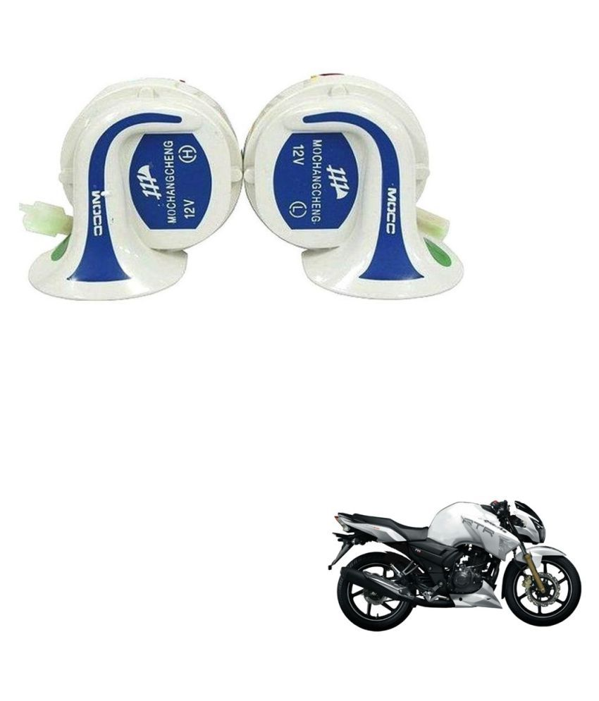 Auto Addict TVS Apache RTR 180 Horn Applicable For Two Wheelers Only - Set  of 2 (High & Low Tone)