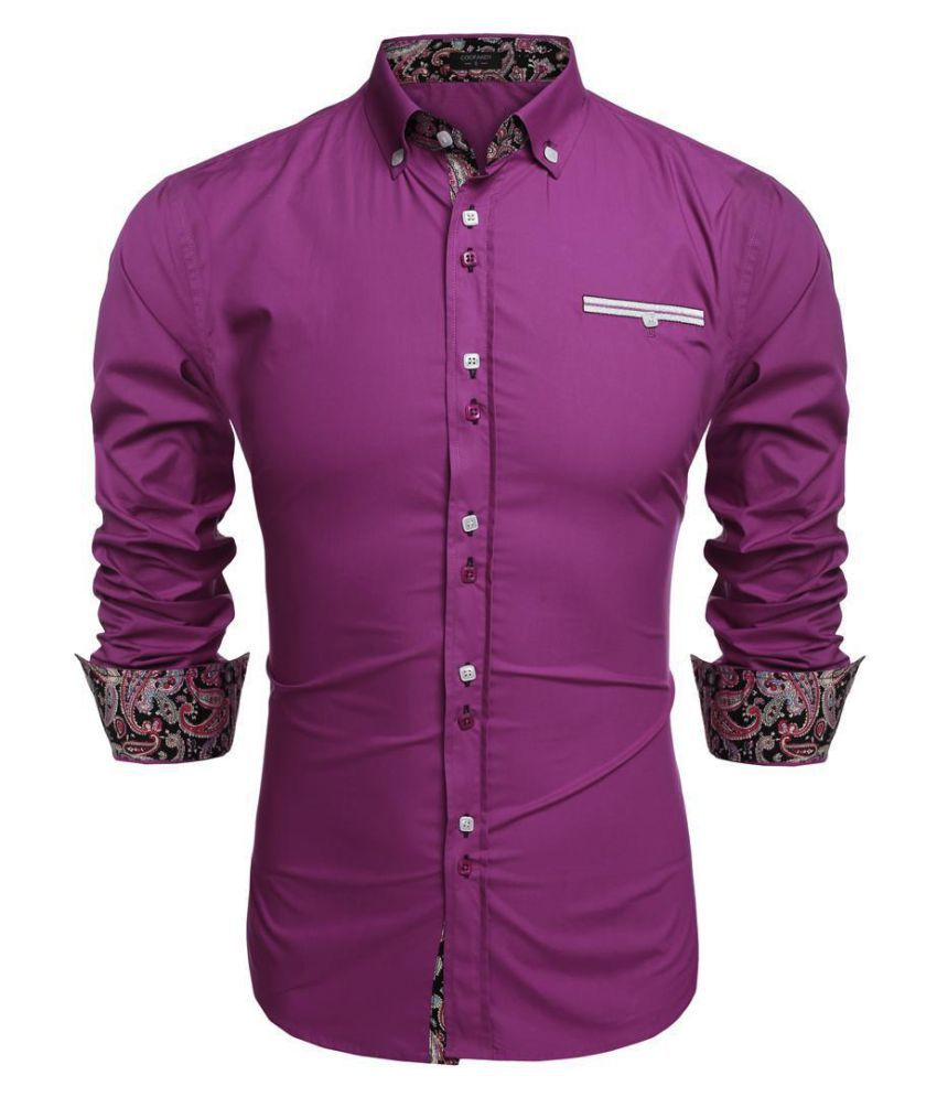 Men Long Sleeve Turn Down Neck Front Pocket Loose Tops Casual Dress Cotton Button Down Shirts