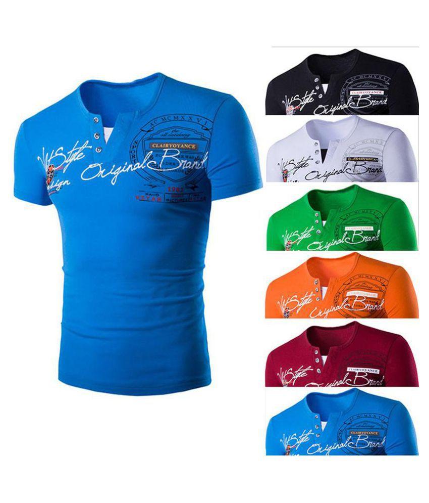 Men's Fashion Slim Fit T Shirt Male Cotton Tops Men T Shirt Spring Summer and Autumn 6 Color 4 Size
