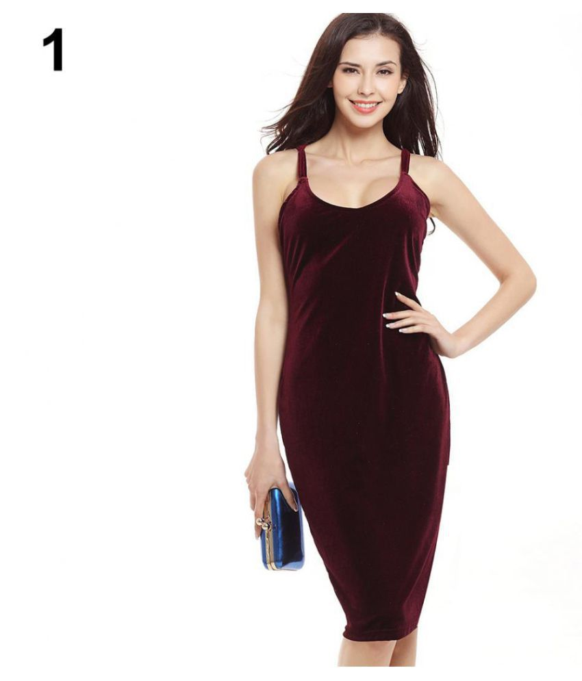 Women Fashion Sexy Harness Deep V-neck Dress Evening Party Bodycon Dress